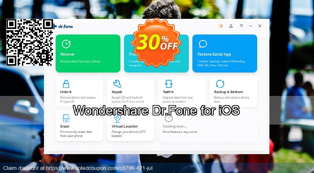 Get 30% OFF Wondershare Dr.Fone for iOS Coupon