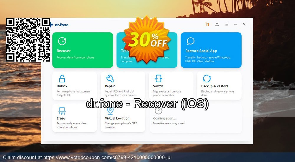 Get 31% OFF dr.fone - Recover, iOS Coupon