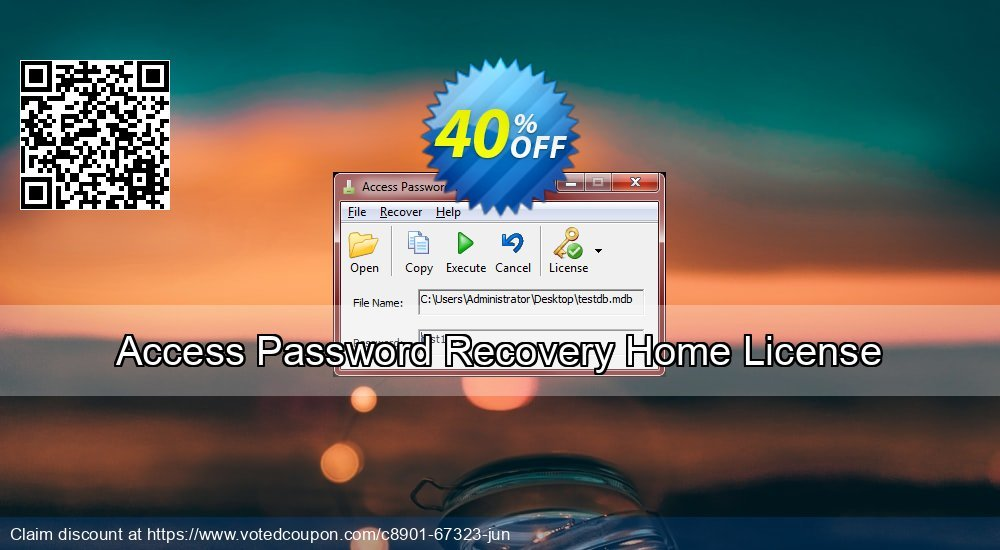 Get 40% OFF Access Password Recovery Home License Coupon