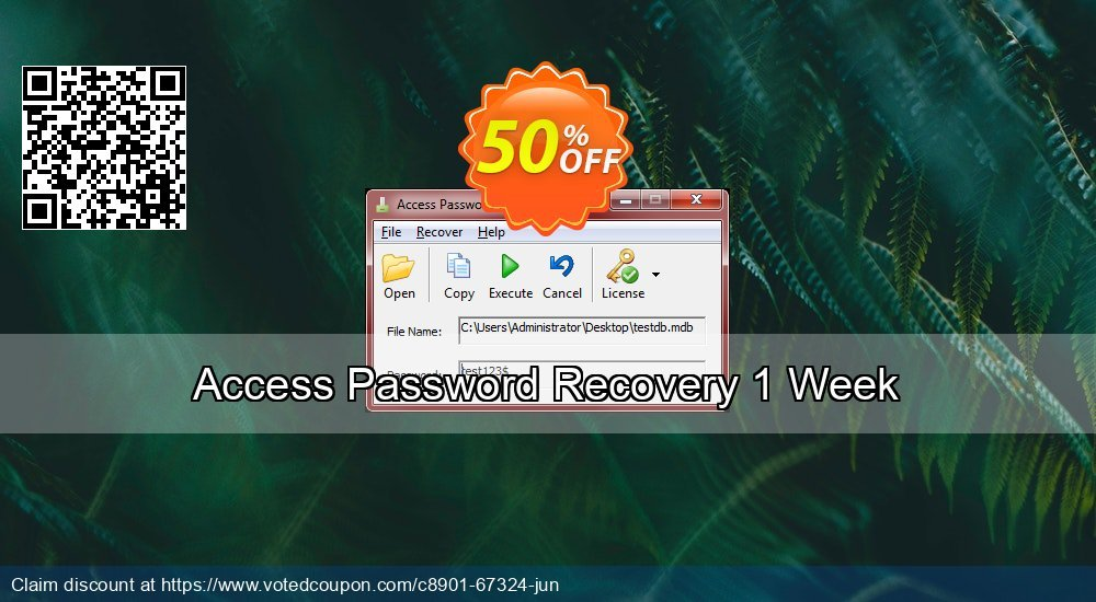 Get 58% OFF Access Password Recovery 1 Week Coupon