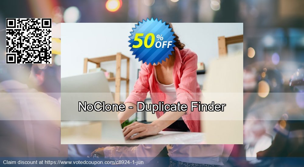 Get 50% OFF NoClone - Duplicate Finder offer