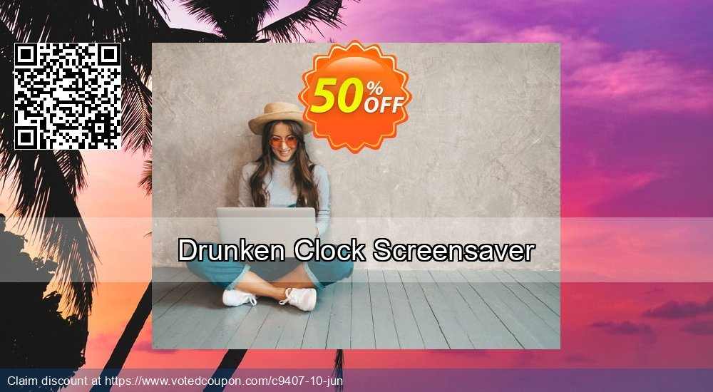 Get 50% OFF Drunken Clock Screensaver offering deals