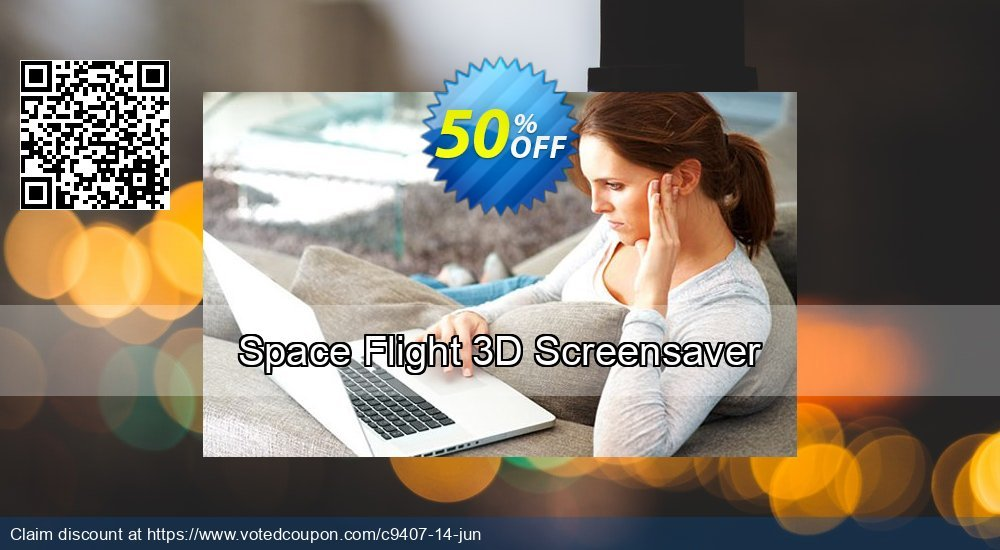 Get 50% OFF Space Flight 3D Screensaver offering discount
