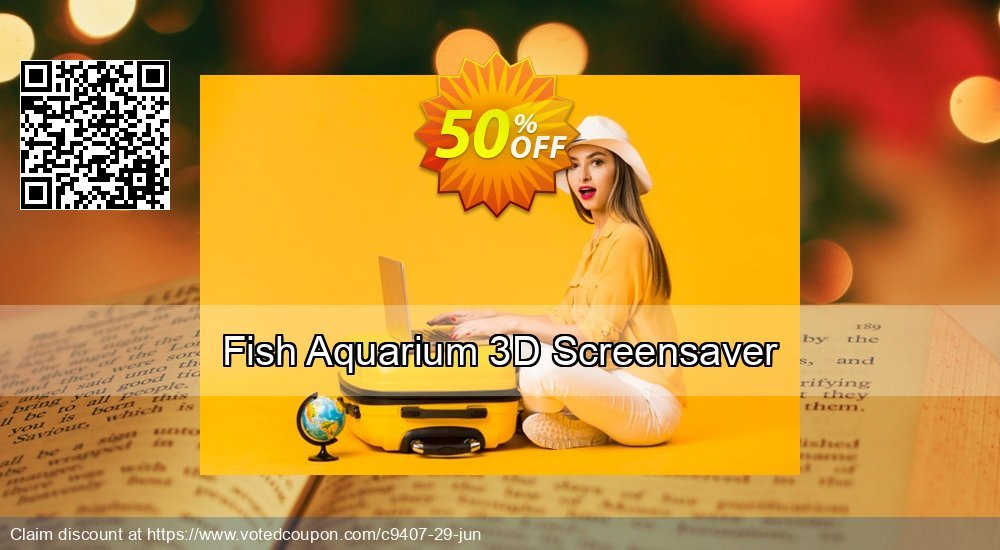 Get 50% OFF Fish Aquarium 3D Screensaver offering sales