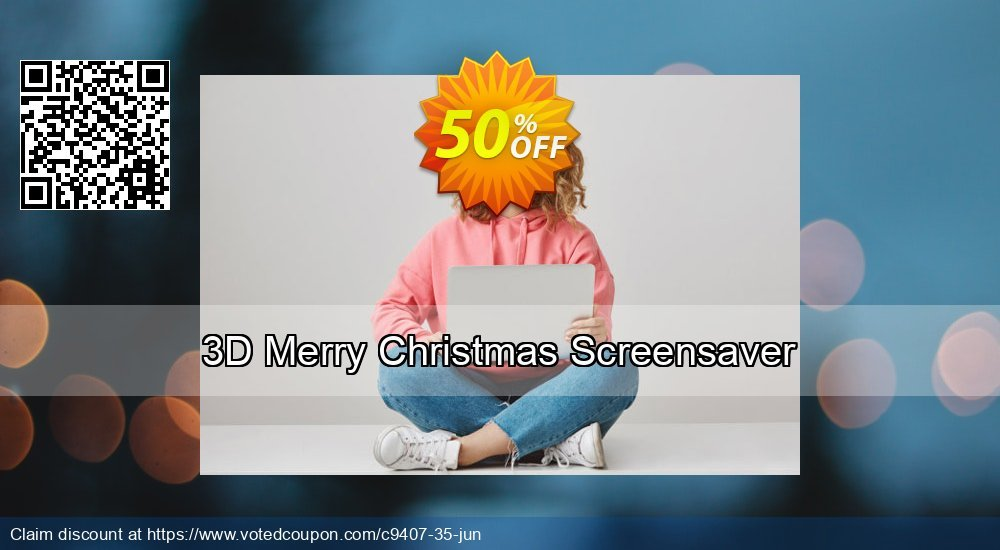 Get 50% OFF 3D Merry Christmas Screensaver offering sales