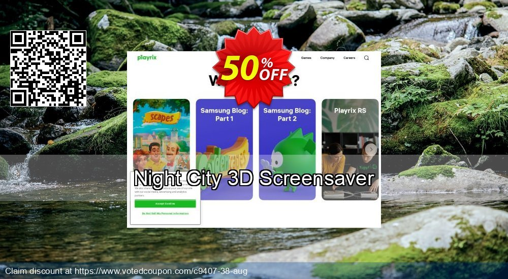 Get 50% OFF Night City 3D Screensaver offering sales