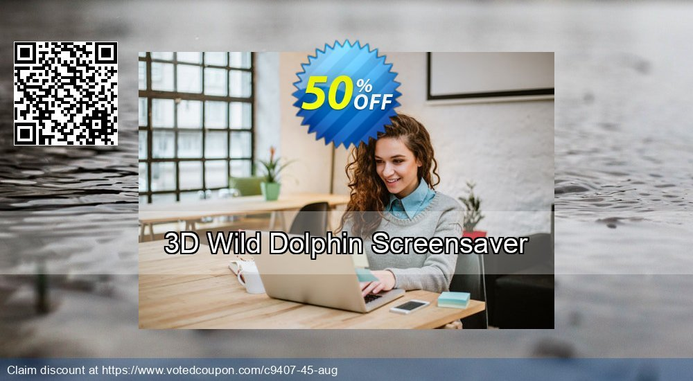 Get 50% OFF 3D Wild Dolphin Screensaver offer