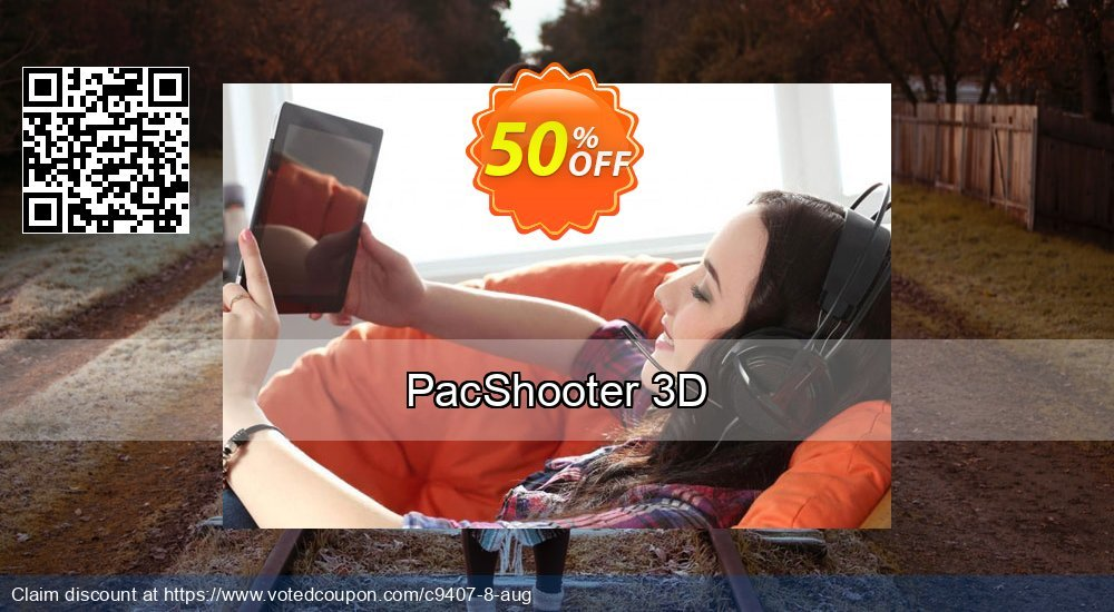 Get 50% OFF PacShooter 3D offering sales
