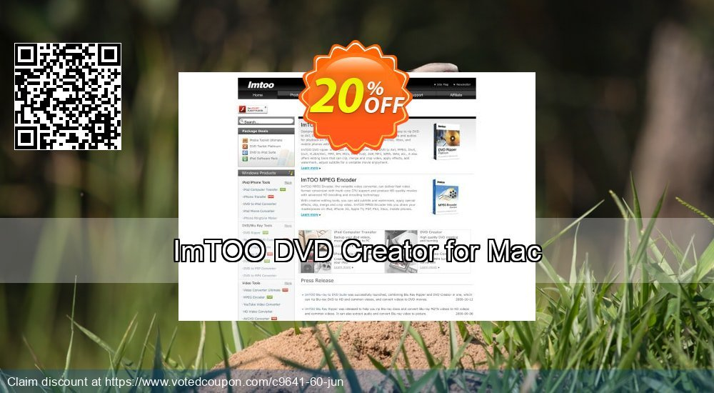 Get 20% OFF ImTOO DVD Creator for Mac offering sales