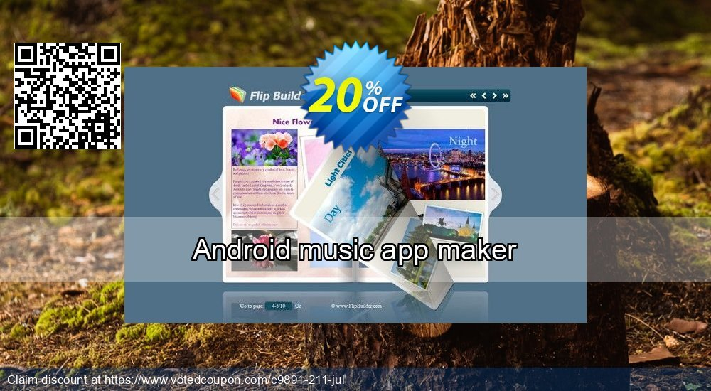Get 20% OFF Android music app maker offering deals