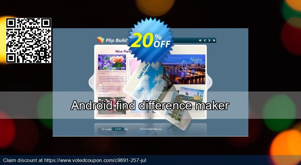 Get 20% OFF Android find difference maker offering sales