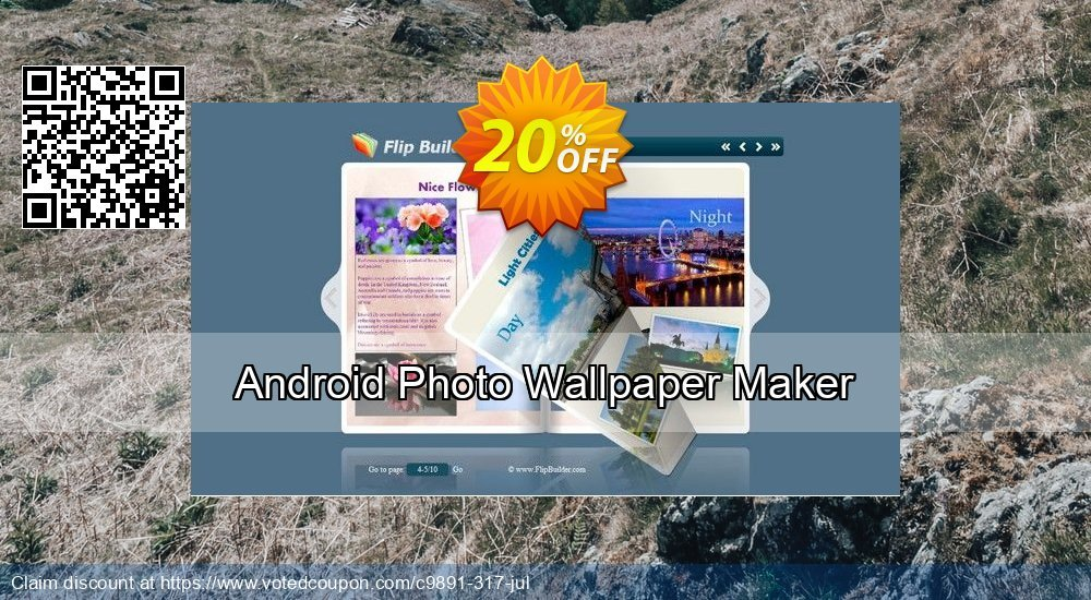 Get 20% OFF Android Photo Wallpaper Maker offering sales