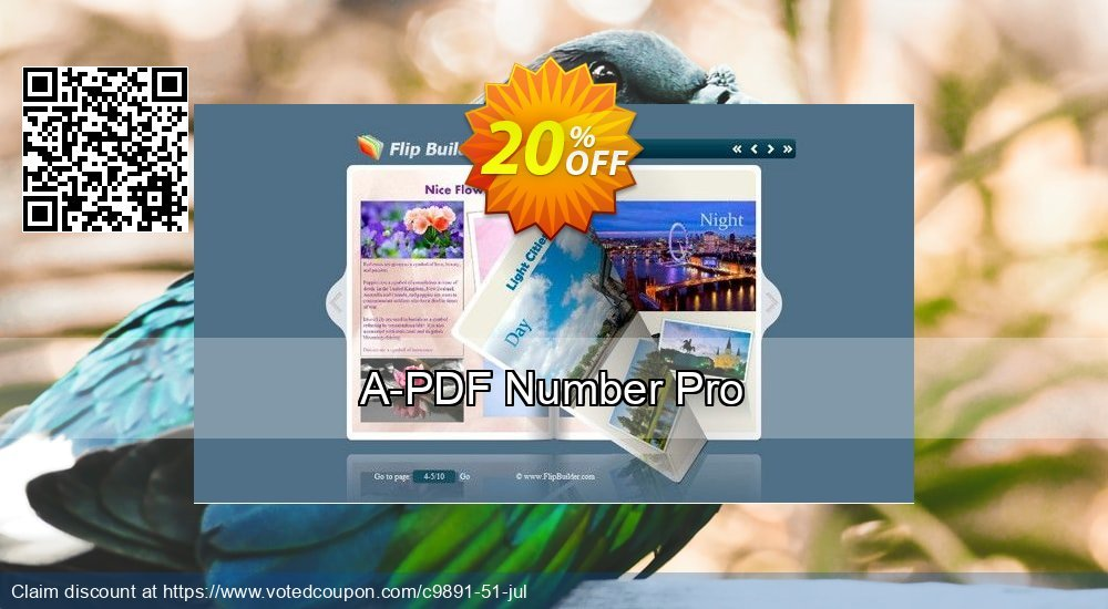 Get 20% OFF A-PDF Number Pro discounts